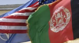 Afghanistan US and Nato flag