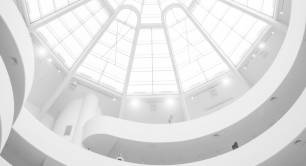 Architecture_white maze_ceiling_staircase_light