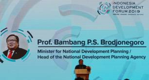Bambang P.S. Brodjonegoro, Minister for National Development Planning, Indonesia Development Forum 2019