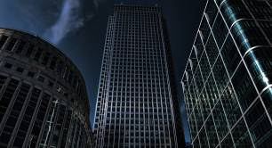 Canary Wharf_London_at night