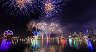 Docklands fireworks London