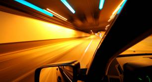 Driving a car_tunnel_night_motorway