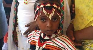 Ethiopia child looks to camera