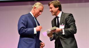 HRH the Prince of Wales with Peter Mather from BP