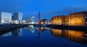 Liverpool_docks_United Kingdom_reflection