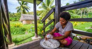 Coconut oil making in Fiji