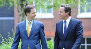 Nick Clegg & David Cameron