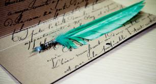 Quill_writing_literature_history