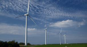 Wind turbines in Somerset_renewable energy_UK