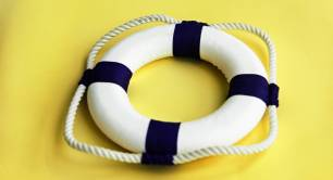 Yellow lifebuoy