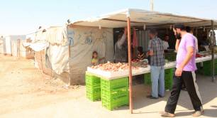 Market stall in Zaatari refugee camp in Jordan - photo by Russell Watkins for DFID