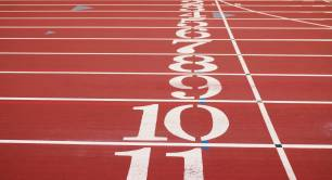 Running track number 1 to 11