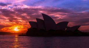 Sydney Opera House evening sunset