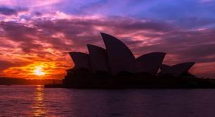 Sydney Opera House evening sunset