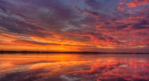 Reflected sunrise