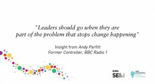 """Leaders should go when they are part of the problem that stops change happening"""